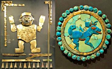 Art des civilisations andines. Photos et montage (c) Charlotte Service-Longépé