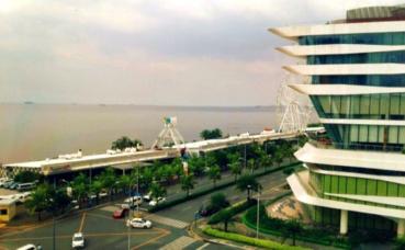 Manille et l'océan Pacifique. Photo prise par l'auteur.
