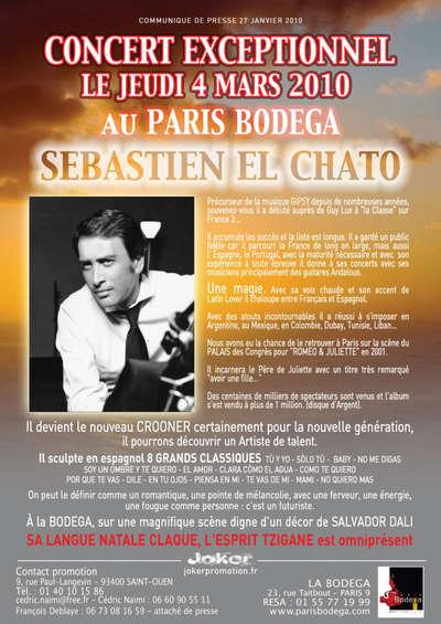 PARIS - Concert Sebastien El Chato le 4 mars 2010