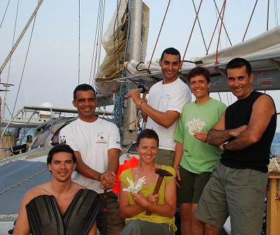Léquipe scientifique. Photo (c) F. Benzoni