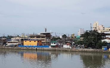 Bidonvilles à Manille. Photo prise par Sarah Barreiros.