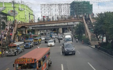 Un contraste marqué à Manille. Photo prise par Sarah Barreiros.