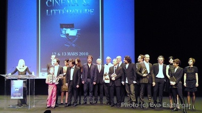 Les lauréats des concours, avec 'le petit Spirou'. Photo (c) Eva Esztergar