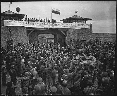 Libération du camp à Mathausen. Archives USA