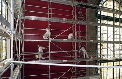 Le Musée océanographique en plein travaux de rénovation. Photo (c) M. Dagnino