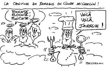 Dessin de presse (c) Jean-Jacques Beltramo. Cliquez ici pour consulter les livres de recettes de Paul Bocuse sur Amazon