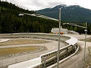 La piste de luge et de bobsleigh de Whistler avant les J.O. Photo (c) Uncleweed