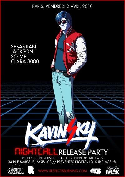 Soirée de lancement 'Kavinsky, nouveau maxi produit par un des Daft Punk'
