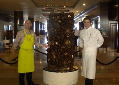 Le chef exécutif Maryan Gandon et le chef pâtissier Jean-Michel Cailleaux. Photo (c) CB / FMC