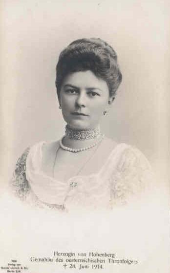 Comtesse Sophie Chotek, d'après une carte postale des années 1900