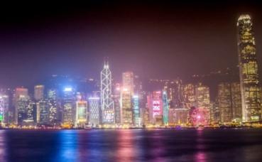 Vue du quartier d'affaire de Hong Kong depuis la baie. Photo prise par Tanguy Lepage.