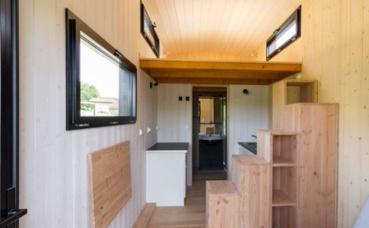 L'intérieur d'une tiny house. Photo (c) Hervé Dupin / MBois