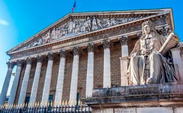 Le Palais Bourbon abrite l'Assemblée nationale française. Photo (c) Jacky Delville
