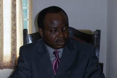 Blaise Ahanhanzo-Glèlè, l'ancien président de l'ANCB a fini par être promu président d'honneur de l'association. Photo (c) G.L.