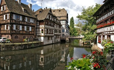 La Petite France à Strasbourg. Image libre de droits.