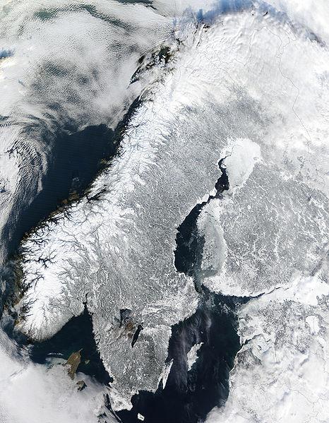 Image prise par l'instrument MODIS à bord du satellite Terra de la NASA. Photo (c) Jacques Descloitres, MODIS Land Rapid Response Team, NASA GSFC