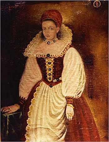 Portrait supposé d'Élisabeth Báthory. Ce n'et pas un portrait original mais une copie presque contemporaine de l'original, celui-ci ayant disparu.