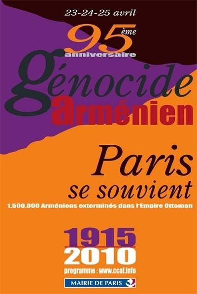 95e anniversaire du génocide des Arméniens de 1915