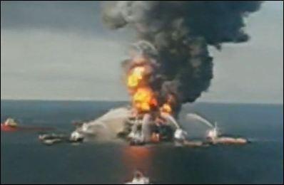 MAREE NOIRE: L'explosion d'une plate-forme pétrolière aux Etats-Unis