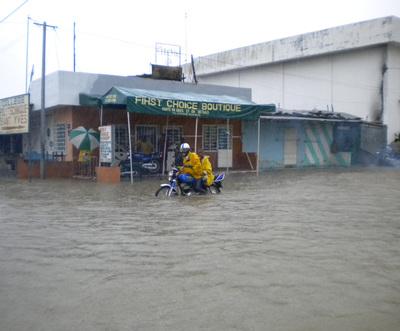 Une rue inondée à Cotonou (DR)