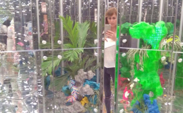"""Image partielle de """"Noah's Garden"""". Photo prise par l'auteur."""