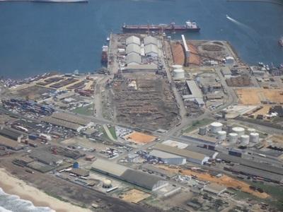 Vue aérienne et partielle du port de Pointe-Noire (DR)