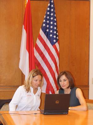 Alexia en conférence webcam depuis New York. Photo courtoisie (c) DR