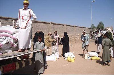 Damai, Saada. Distribution de vivres aux déplacés. Photo © CICR