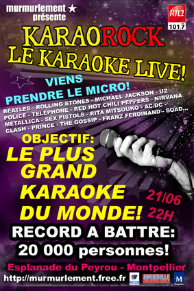 LE PLUS GRAND KARAOKE DU MONDE A MONTPELLIER!