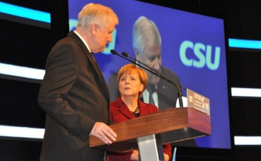 Horst Seehofer et Angela Merkel. Photo (c) Harald Bischoff