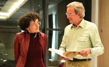 Marie-Hélène Lafon et Jean-Yves Giraudon, président du P.E.N. Club de Monaco. Photo (c) Charlotte Service-Longépé