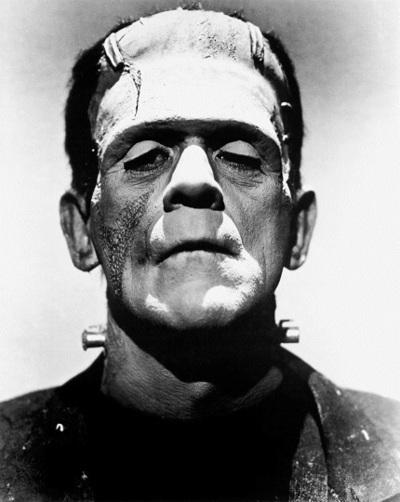 Boris Karloff dans le rôle du monstre de Frankenstein