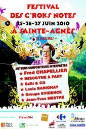 Le Festival des C'ROKS NOTES fidèle à Sainte Agnès (25, 26 & 27 juin - 21 heures)