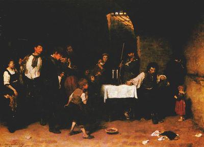 Le dernier jour d'un condamné (1870) de Munkácsy Mihály