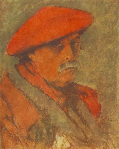 Autoportrait au béret rouge de József Rippl-Rónai