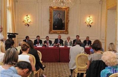 S.E. M. Michel Roger, Ministre d'Etat, et les Conseillers de Gouvernement. Photo (c) Charly Gallo / CDP
