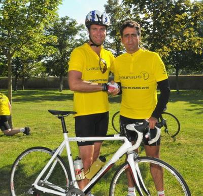 INDURAIN AND VAUGHAN REACH FRENCH CAPITAL AFTER GRUELLING LAUREUS LONDON TO PARIS BIKE RIDE