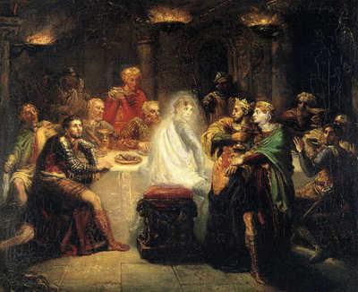 Macbeth apercevant le spectre de Banco, peinture de Théodore Chassériau (1819-1856)