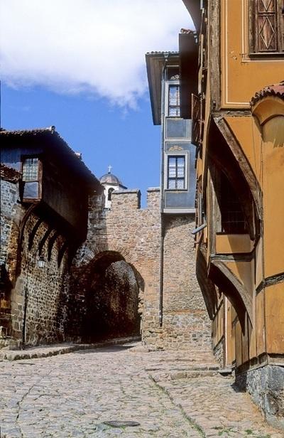Rue de la vieille ville de Plovdiv, photo du Néerlandais Jeroen Kransen, prise le 18 mai 2006