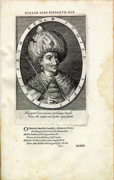 Shah Abbas Ier,  années 1600 par Dominicus Custos (1560-1612)