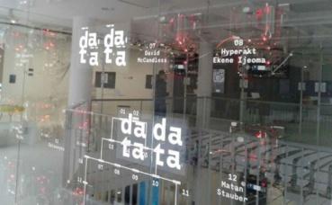 """Exposition """"1, 2, 3 DATA"""" à la Fondation EDF. Photo prise par Sarah Barreiros."""