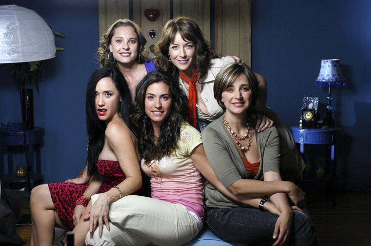 Les actrices Susana Zabaleta,  Luz Maria Zetina, Claudia Ramirez, Marina de Tavira et Susana Gonzalez stars de la série télévisée SOS Sexe posant au Mexique le 16 avril 2007 (Crédit photo : AFP)