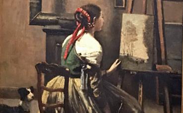 Corot, L'atelier de l'artiste. Photo (c) Charlotte Service-Longépé