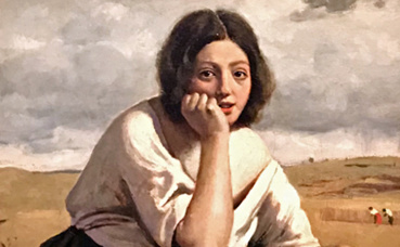 Corot, La moissonneuse tenant sa faucille. Photo (c) Charlotte Service-Longépé