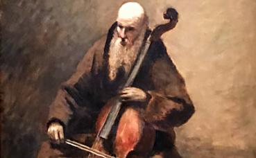 Corot, Le Moine au violoncelle. Photo (c) Charlotte Service-Longépé