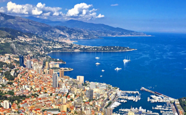 Panorama sur Monaco photographié de la Tête de Chien à la Turbie.  Photo (c) Charlotte Service-Longépé