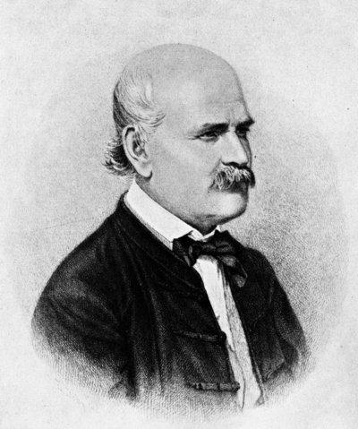 Portrait du Dr Ignace Semmelweis, dessin à la plume de Jenő Dopy, 1860