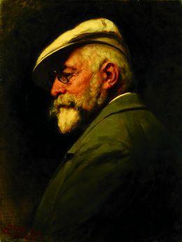 Autoportrait de Gyula Benczúr, 1917, Galerie des Offices à Florence