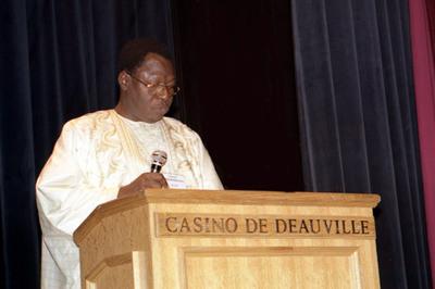 Celestin Tiendrebeogo Directeur général de la Sociéét de fibres textiles du Burkina (Sofitex) Photo (c) SAMA
