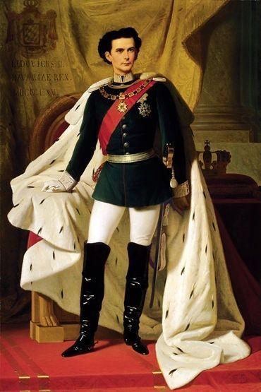 Louis II à vingt ans peint par Ferdinand von Piloty 1865. Michael Petzet dans son ouvrage Louis II et ses châteaux.